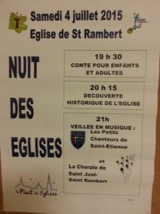 La Chorale de Saint Just Saint Rambert a chanté pour la Nuit des églises 2015